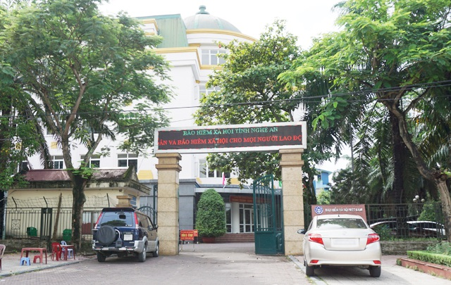 Cơ quan bảo hiểm xã hội tỉnh Nghệ An