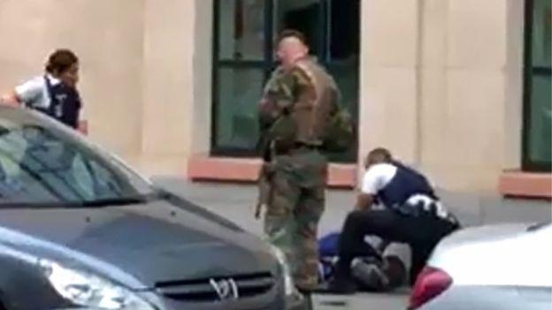 Hiện trường vụ tấn công tại Brussels, Bỉ (Ảnh: AFP/Getty)