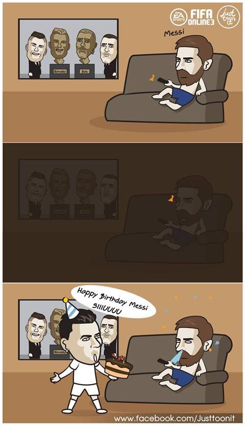 C.Ronaldo không phải vị khách được chào đón của Messi