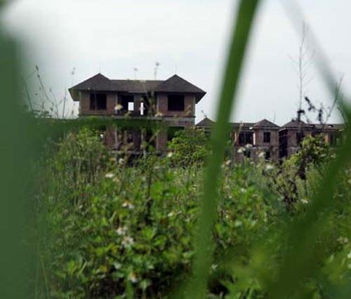 Biệt thự chưa hoàn thiện bị cỏ mọc che khuất cả tầm nhìn ở khu đô thị mới nam Từ Sơn (Bắc Ninh)