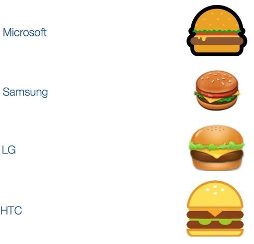 Biểu tượng chiếc bánh burger phô mai đang được sử dụng bởi các hãng công nghệ khác