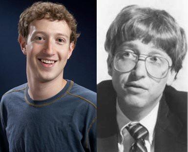 Không chỉ về tài năng, cả hai cũng có nét tương đồng về ngoại hình. Một bức ảnh hồi trẻ của Bill Gates được đánh giá là có gương mặt giống với Mark Zuckerberg