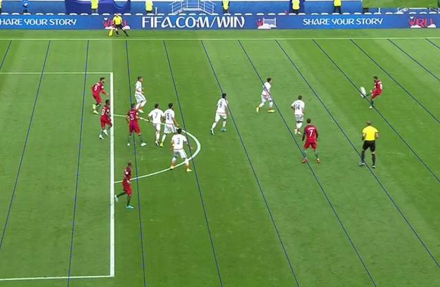 Bồ Đào Nha cũng bị từ chối bàn thắng vì công nghệ VAR phát hiện ra tình huống việt vị (ở tình huống trước khi bóng vào lưới khá lâu). Tất nhiên, trọng tài vẫn phải tuân theo công nghệ