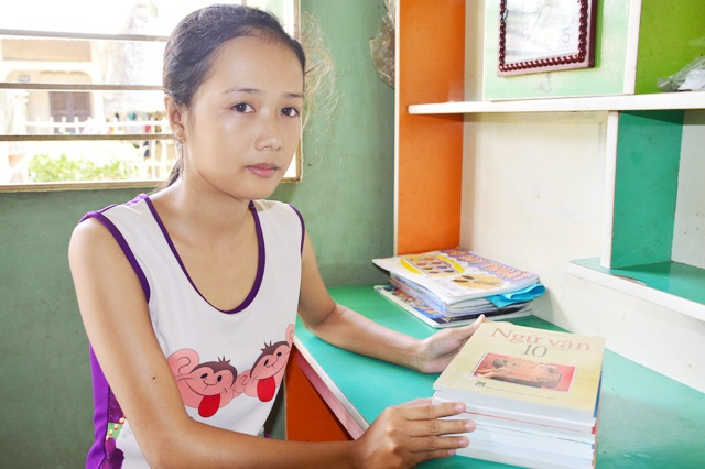 Em Kiều Trang đã được nhận vào học lớp 10 năm học 2017-2018.