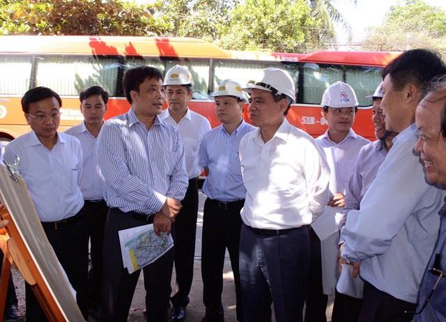 Bộ trưởng Bộ GTVT Trương Quang Nghĩa kiểm tra tuyến cao tốc Trung Lương - Mỹ Thuận- Cần Thơ