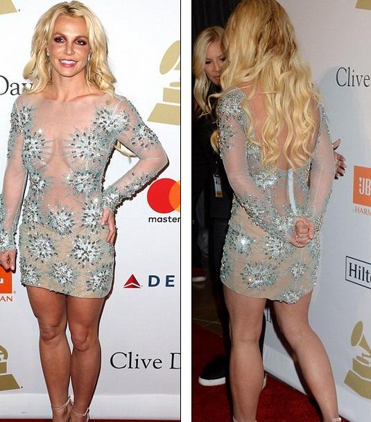 Hiếm khi dự sự kiện nên Britney rất được báo giới quan tâm