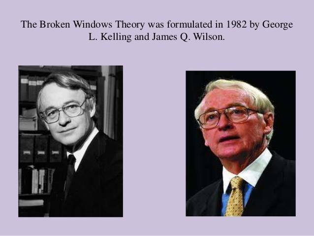 Hai nhà khoa học xã hội người Mỹ James Q. Wilson và George L. Kelling đưa ra Thuyết cửa sổ vỡ năm 1982.