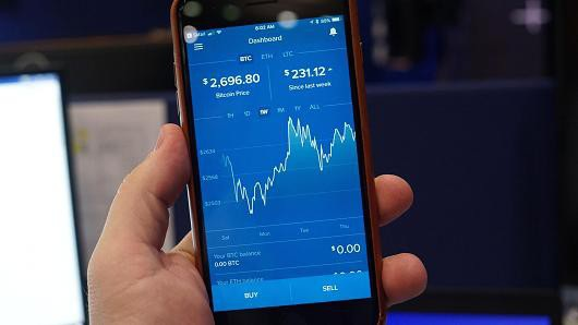 Ứng dụng giao dịch bitcoin Coinbase