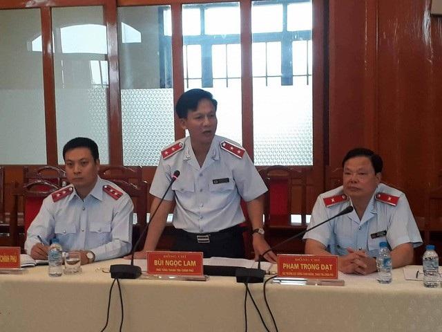 Ông Bùi Ngọc Lam - Phó Tổng Thanh tra Chính phủ phát biểu tại buổi công bố kết luận thanh tra tại Yên Bái.