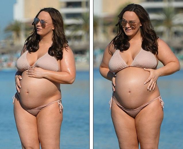 Chanelle Hayes bế bụng bầu đi nghỉ mát ở Marbella hồi cuối tuần trước