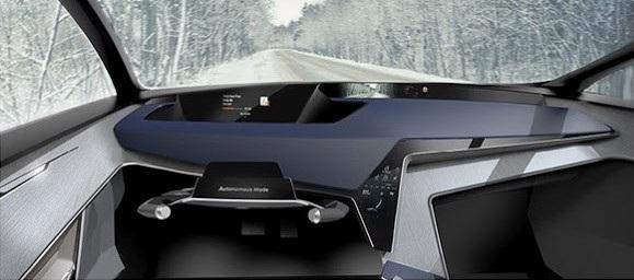 Vô lăng có thể cụp xuống khi xe ở chế độ tự lái, để tài xế có thể hoàn toàn thư giãn.