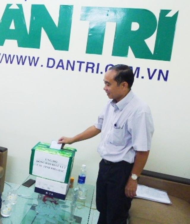 Dược sĩ Trần Y Đồng chia sẻ khó khăn với đồng bào vùng lũ phía Bắc