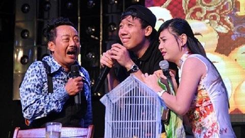 Cố danh hài Khánh Nam, Trấn Thành và Cát Phượng đóng chung tiểu phẩm.