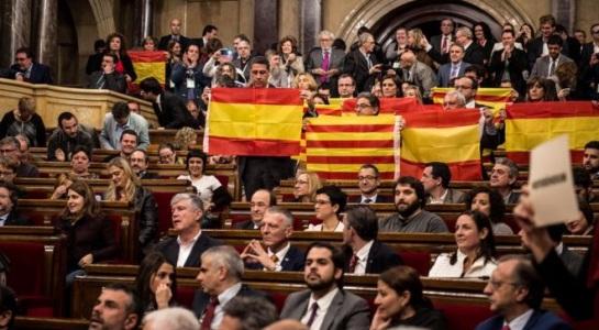 Sự chia rẽ thể hiện ngay trong nghị viện Catalan