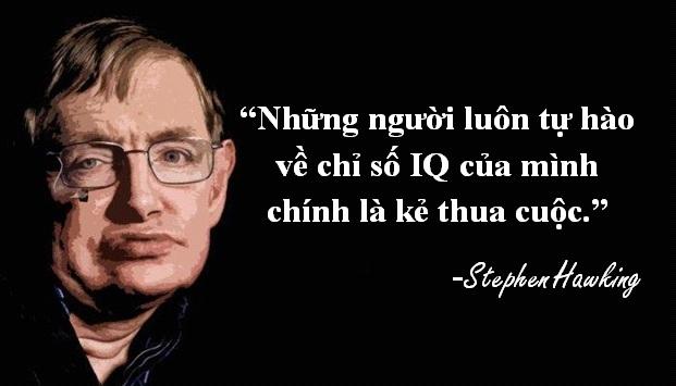 Thiên tài vật lý Stephen Hawking trả lời phỏng vấn khi được hỏi về chỉ số IQ của mình.