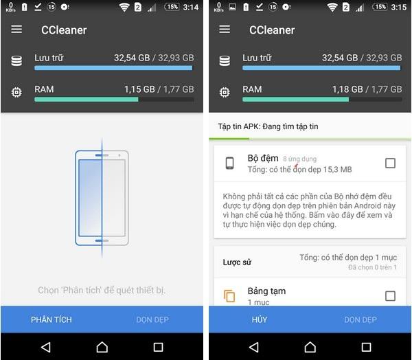 Dọn dẹp để tiết kiệm dung lượng ổ cứng và giúp smartphone nhẹ nhàng hơn - 1