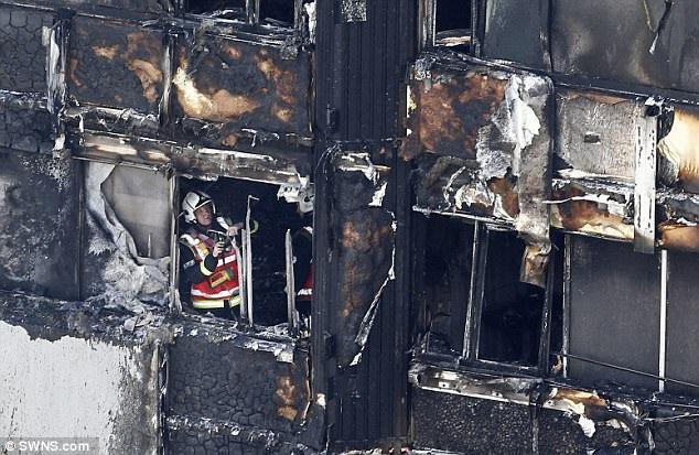 Tòa chung cư gần như bị thiêu rụi sau vụ hỏa hoạn. (Ảnh: Dailymail)