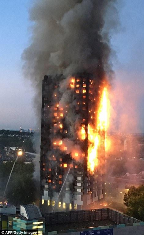 Một số người được cho là đã nhảy ra khỏi cửa sổ để thoát mạng khi đám cháy bốc lên dữ dội (Ảnh: AFP)