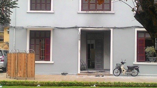 Phòng y tế Học viện Hành chính Quốc gia nơi người đàn ông tự thiêu (Ảnh: Vietnamnet)