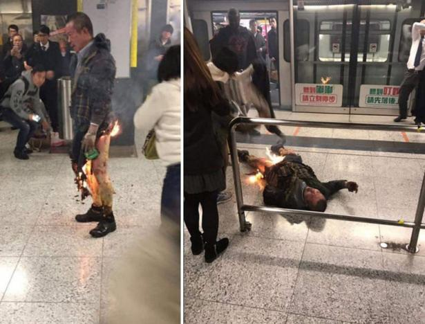 Nghi phạm đã bị bắt lửa trong vụ tấn công (Ảnh: Reuters)