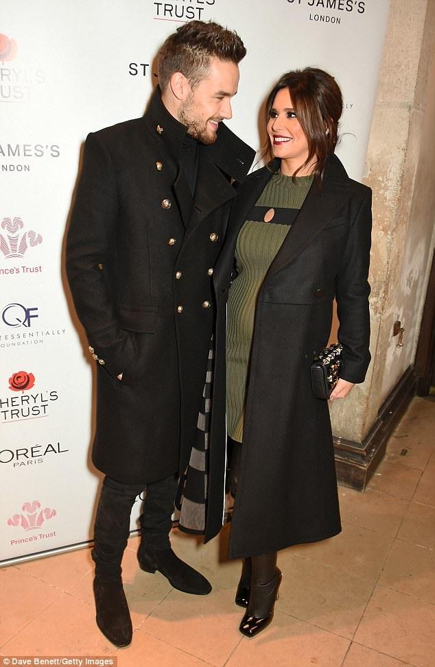 Cheryl và bạn trai Liam đẹp đôi trong thời gian cô đang mang thai.