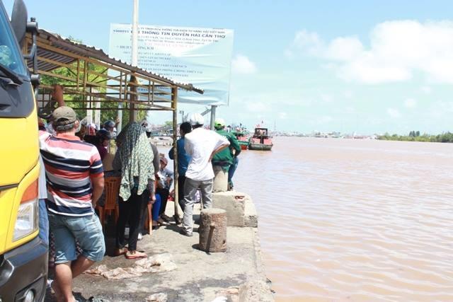 Khu vực sông nơi xảy ra vụ chìm tàu