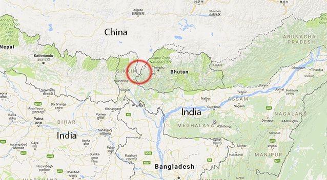 Khu vực trung tâm của cuộc tranh chấp lãnh thổ (Ảnh: Google Maps)