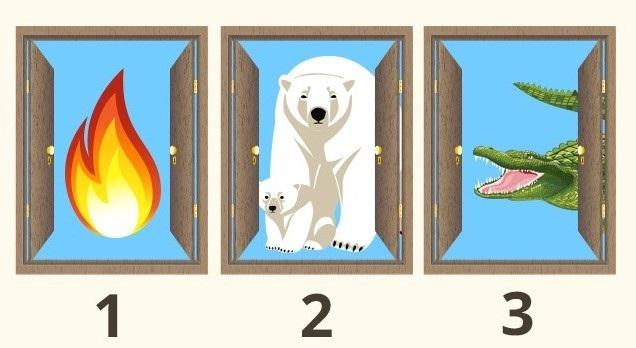 Đáp án câu đố thử trí thông minh: Bạn chọn cánh cửa nào để được tự do? - 1