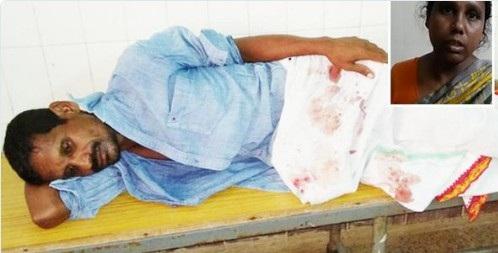 Người chồng R.Ravinder phải điều trị trong bệnh viện, trong khi người vợ phải đối mặt với tội danh giết người