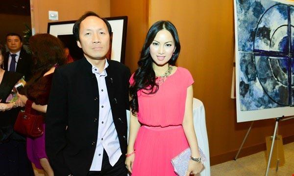 Hà Phương và ông xã Chính Chu - một trong số những người Việt giàu nhất thế giới.