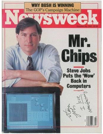 Cuốn tạp chí có bút tích và chữ ký của Steve Jobs được mang ra bán đấu giá