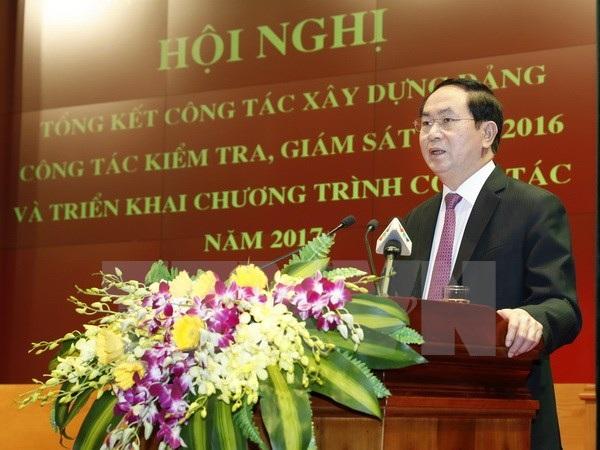 Chủ tịch nước Trần Đại Quang phát biểu chỉ đạo Hội nghị.