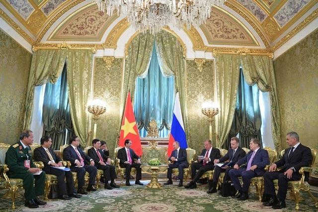 Hai nhà lãnh đạo dẫn đầu phái đoàn hai nước tham gia cuộc hội đàm (Ảnh: Reuters)