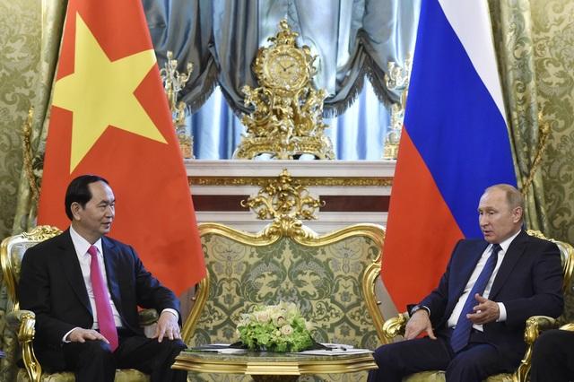 Trong cuộc hội đàm, Tổng thống Vladimir Putin khẳng định Nga luôn coi Việt Nam là một trong những đối tác ưu tiên của Nga ở khu vực châu Á - Thái Bình Dương. (Ảnh: Reuters)