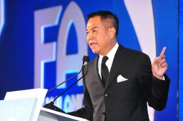 Chủ tịch FAT, ông Somyot Poopunmuang tuyên bố bóng đá Thái Lan sẽ xây dựng chiến lược phát triển trong 10 - 20 năm tới