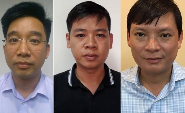 Từ trái qua phải, Bùi Mạnh Hiển, Nguyễn Đức Hưng, Nguyễn Anh Minh.