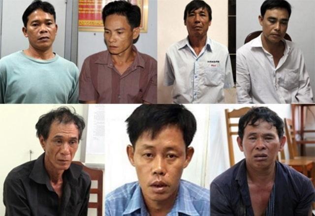 7 đối tượng trộm vàng tại thời điểm bị bắt