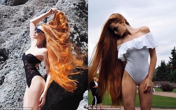 """Không chỉ sở hữu một mái tóc dài và đẹp, Sidorov còn sở hữu một thân hình """"nóng bỏng"""""""