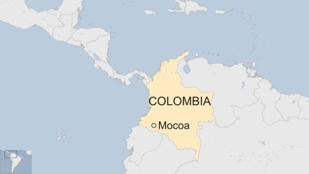 Bản đồ khu vực xảy ra lở đất (Ảnh: BBC)