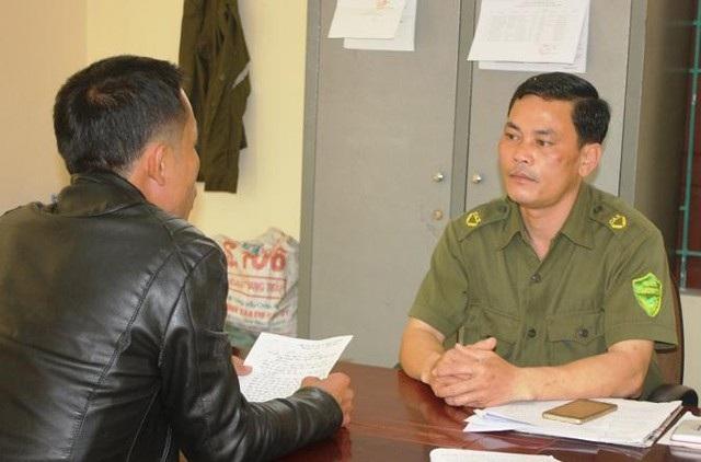 Ông Nguyễn Ngọc Thấu - Trưởng Công an xã Nghi Quang đã có thời gian đảm trách vị trí này 7 năm (ảnh P.T)