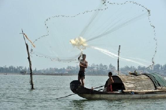 Ngắm ngư dân tung chài lưới...
