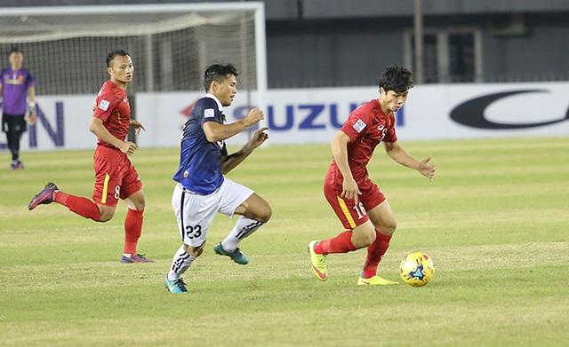 Công Phượng đã có trận đấu không thành công trước Campuchia