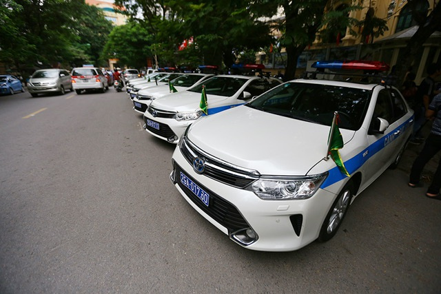 12 ô tô của CSGT Hà Nội được tăng cường vào Đà Nẵng