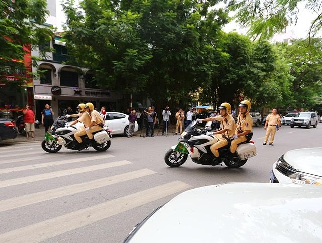 Dàn mô tô hiện đại được sử dụng để phục vụ dẫn đoàn lãnh đạo 21 nền kinh tế dự APEC tại Đà Nẵng