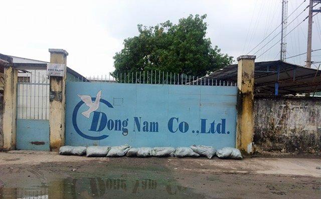 Nhà xưởng trên diện tích đất hơn 4.700m2 được Cty Đông Nam Việt Nam thuê bị kê biên cưỡng chế.