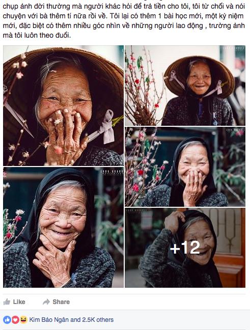 Bộ ảnh về cụ bà thu gom giấy vụn ở Đà Lạt được cộng đồng mạng quan tâm.