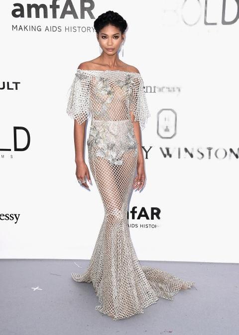 Siêu mẫu Chanel Iman - nàng tiên cá hút hồn trong bộ váy của Marchesa