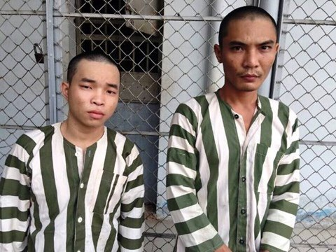 Phạm Ngọc Hải (trái) và Huỳnh Minh Cọi khi bị bắt giữ