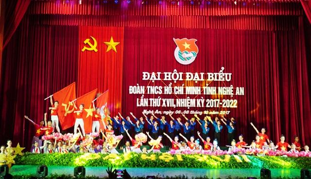 Văn nghệ chào mừng Đại hội đại biểu Đoàn TNCS Hồ Chí Minh tỉnh Nghệ An lần thứ XVII, nhiệm kỳ 2017-2022