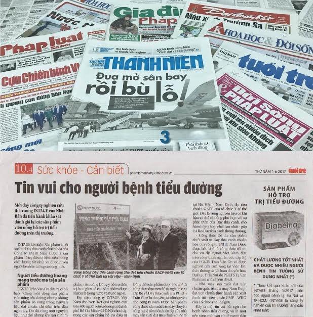 Tin về sản phẩm chiết xuất từ Dây thìa canh chuẩn hóa của Công ty TNHH Nam Dược - Sản phẩm hỗ trợ điều trị tiểu đường số 1 Việt Nam